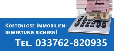 Jetzt kostenlose Immobilienbewertung sichern! | Tel. 033762-820935